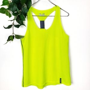 Under Armour Yellow Semi-Fitted Heat Gear Tank Top